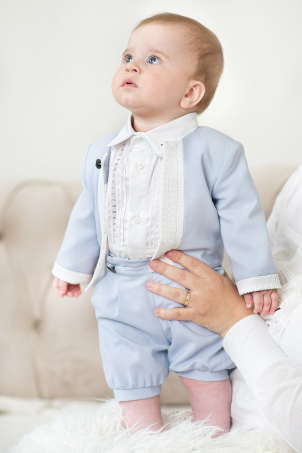 English Blue baby and toddler summer suit for boys