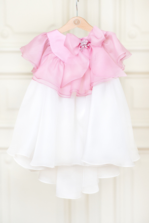 Flower in the Spring - diaphanous and elegant dress for girls, made of natural silk organza
