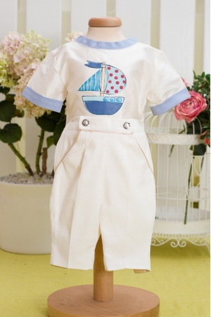 Baby Boat - Boy Hand Painted Suit