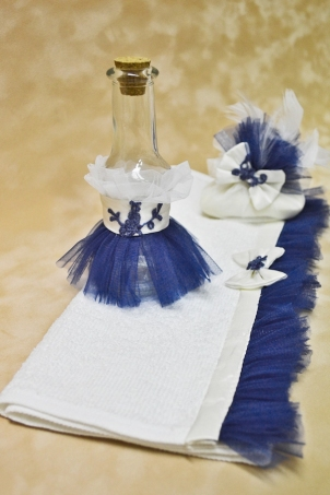 Blue Kitty Trousseau - Christening Priest Set
