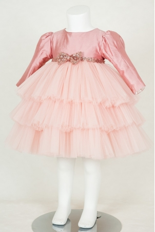 Candy glitter silk tutu dress for girls