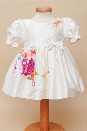 Pink Aquarela - Christening Dress
