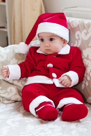 little santa christmas suit for boys