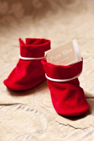 Little Santa Baby boy bootees