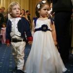 Micul Napoleon (Luca) si cu printesa lui (Daria) fac turul de onoare!