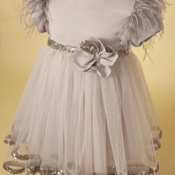 Rochita Revelion, paiete argintii, pentru fete