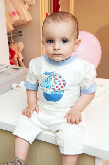 """Aquarela"" - boy suit for christening  ""Baby Boat"""