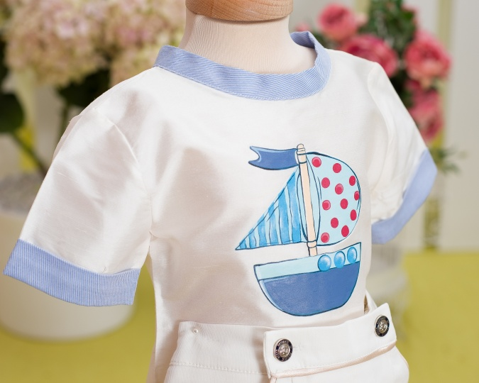"""Aquarela"" - baby boy suit  ""Baby Boat"""