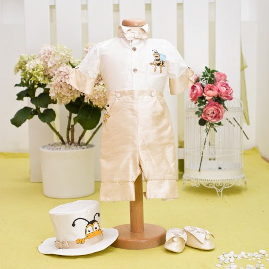 """Aquarela"" - christening suit ""Bumble-bee"""
