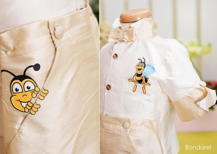 """Aquarela"" - boy christening suit ""Bumble-bee"""