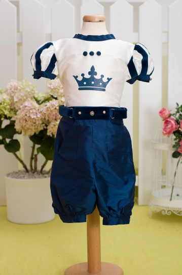 """Aquarela"" - costum elegant baiat ""Baby King"""