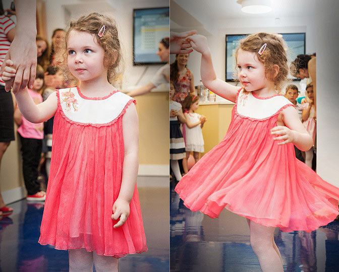"""Aquarela"" - girl dress ""Corail Aquarela"""