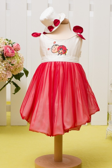 """Aquarela"" - baby girl dress ""Ladybug"""