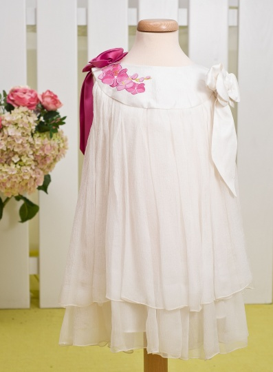 """Aquarela"" - christening girl dress ""Orchid Aquarela"""