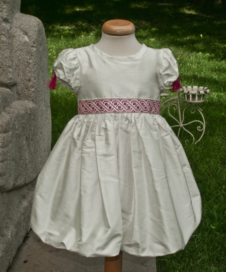 """Ballerina & The Funky Boy"" - christening dress ""Anna"""