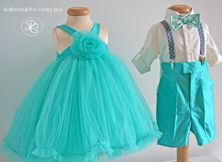 """Ballerina & The Funky Boy"" - baby christening suits"