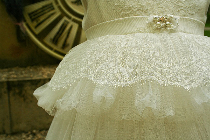 """Ballerina & The Funky Boy"" - christening dress ""Odette"""