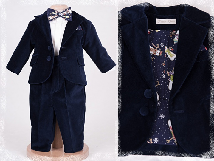 "Christmas Stories - ""Nicolas"" Velvet Suit for little Boys"
