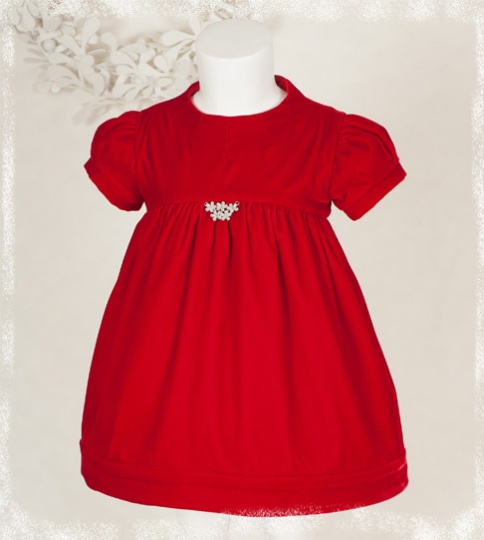 "Christmas Stories - ""Natalie"" Girl Velvet Dress"