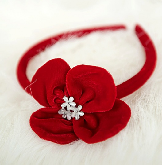 "Christmas Stories - ""Natalie"" Girl Velvet Headband"