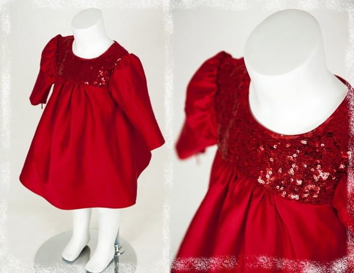 "Christmas Stories - ""Noel"" Girl Silk Dress"