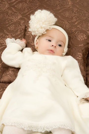 "Grandma's Chest - baby dress ""Snowflake"""