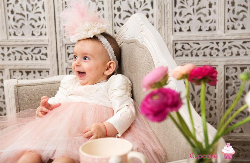 "Les aristokats - christening girl suit ""Cupcake"""