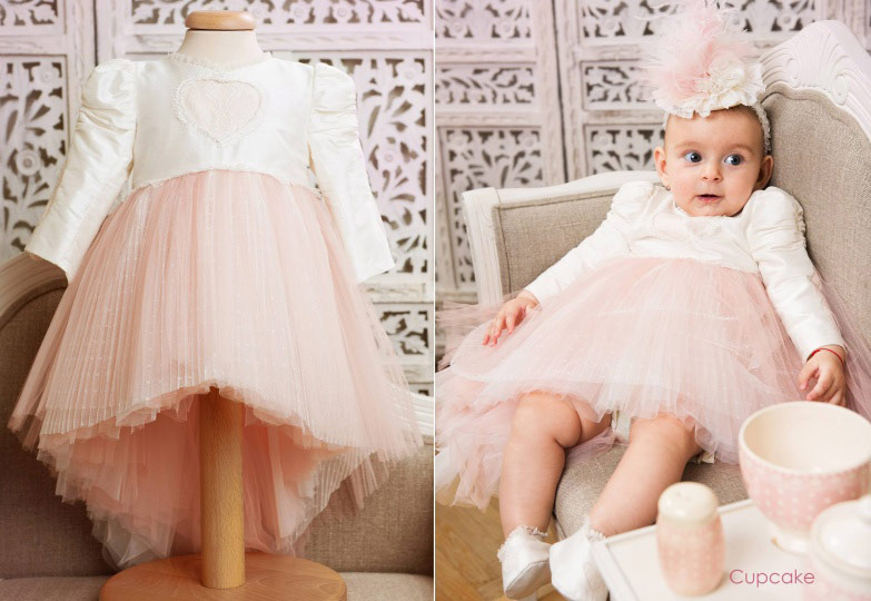 "Les aristokats - christening suit for girls ""Cupcake"""
