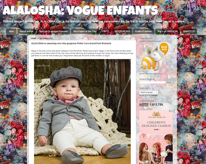Alalosha Vogue Enfants - stylish blog for children