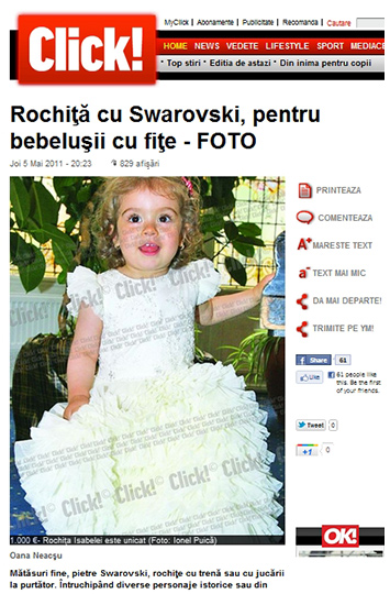 Click! newspaper - about Princess dress