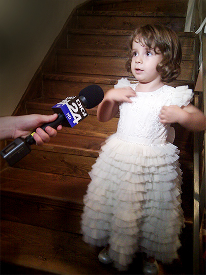 Alessia's interview for DIGI TV in our Princess Dress