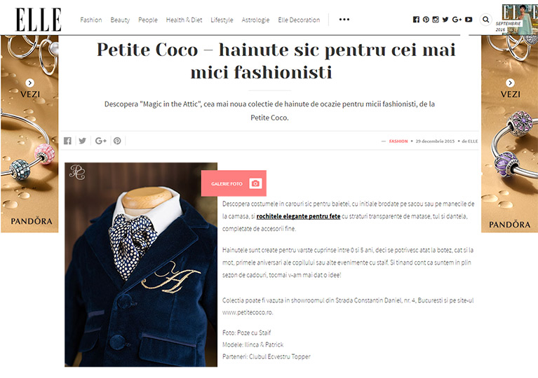 About Petite Coco on Elle.ro
