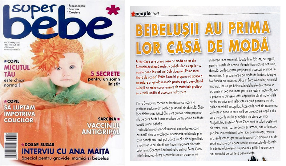 Superbebe Magazine - Petite Coco, a fashion house dedicated to babies and toddler