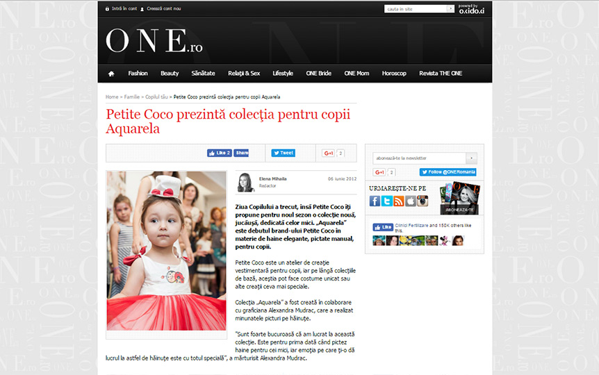 The One.ro - about Aquarela collection official presentation